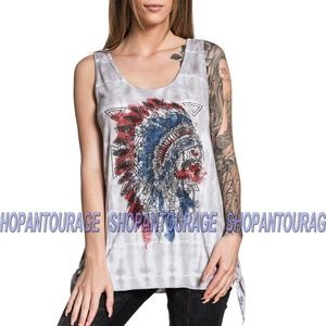 Affliction AC Painted Horse AW16408 Tank Top